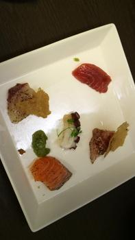 鮮魚のカルパッチョ焼き塩のガレット添え.JPG